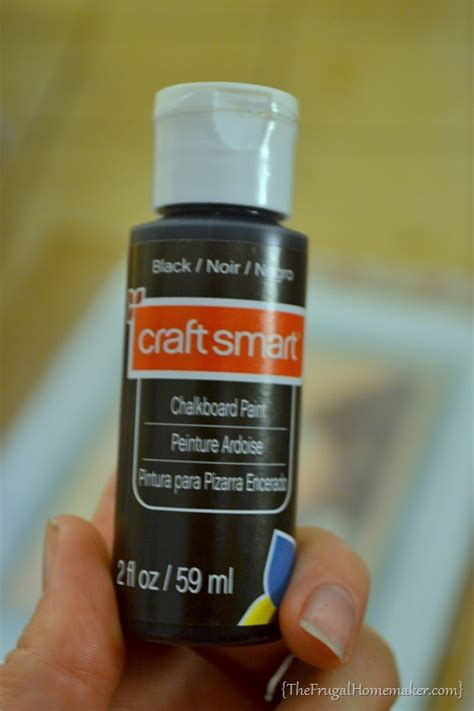spray chalkboard paint on glass how to make a diy chalkboard from an picture frame