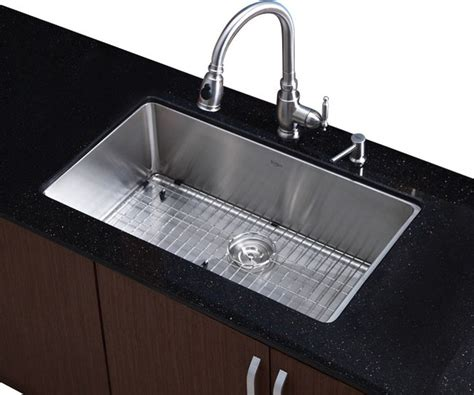 32 in undermount single bowl stainless steel kitchen sink