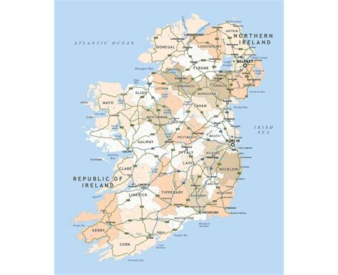 map of ireland with major cities maps of ireland detailed map of ireland in