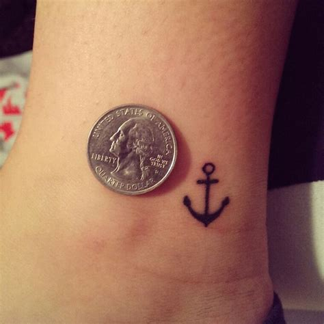 tiny anchor tattoo small simple anchor