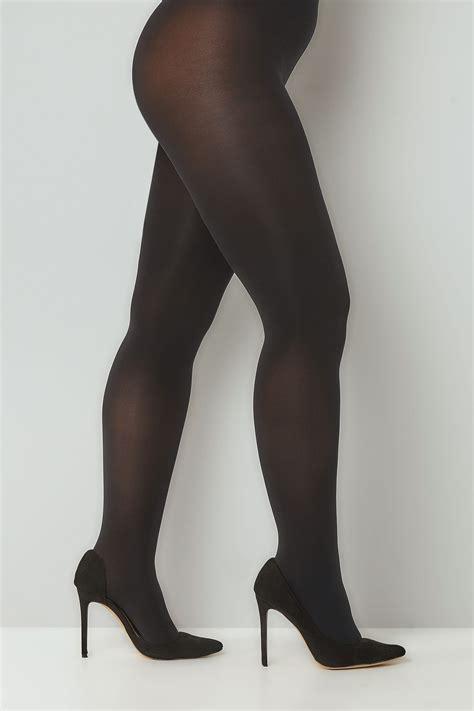 Pers Premium L42 black 120 denier tights plus size 16 to 32