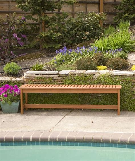 long outdoor bench outdoor bench 5 long wood bench backless gardener s