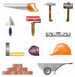 construction tools building instruments vector image