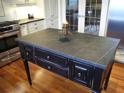 Soapstone Island Countertop by Traditional Soapstone Installation Traditional Other
