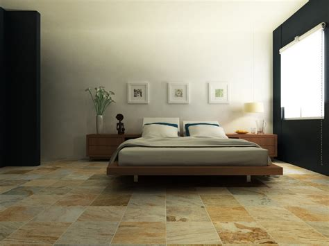sumptuous interceramic tile in bedroom contemporary with