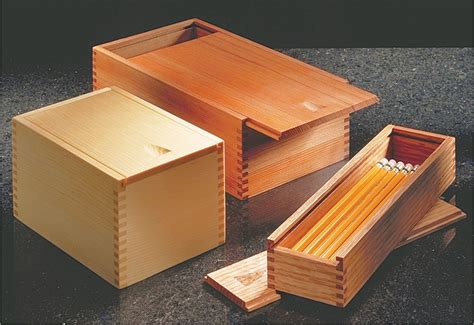 sliding lid boxes wooden pencil box woodworking box