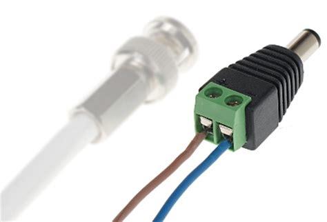 Konektor Dc Cewe Cctv redukce svorkovnice standard dc 2 1 5 5 konektor nap 225 jen 237 pro cctv kamery discomp