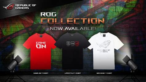 Tshirt Asus asus rog collection gamer shirts and bags now available