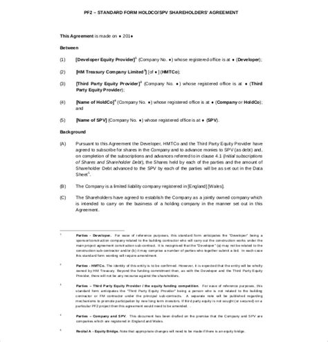 free shareholder agreement template shareholder agreement templates 11 free word pdf