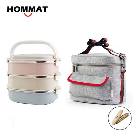 Best Seller New Japanese Iconic Insulated Lunch Picnic Bag Coole 3 layer stainless steel metal bento lunch box japanese food box insulated lunchbox thermal