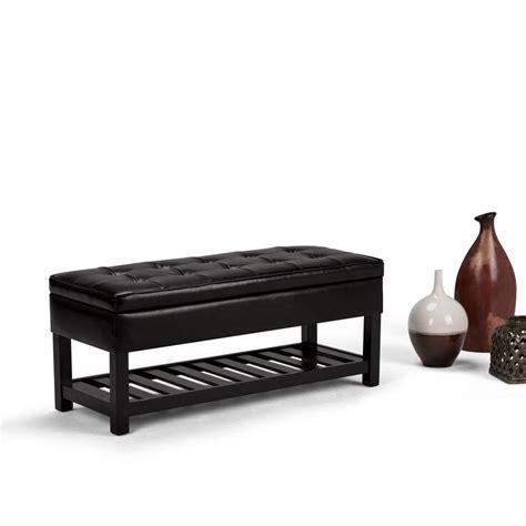simpli home storage bench simpli home dakota entryway bench in dark exeter brown int