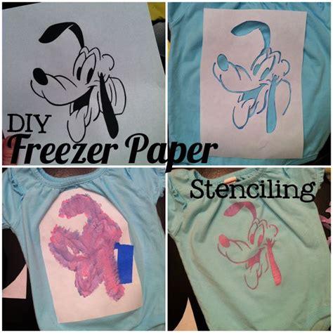Make Your Own Freezer Paper - freezer paper stenciling custom made disney shirts