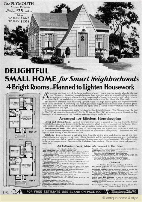 montgomery ward house plans 1930 english cottage kit house montgomery ward home plans wardway plymouth