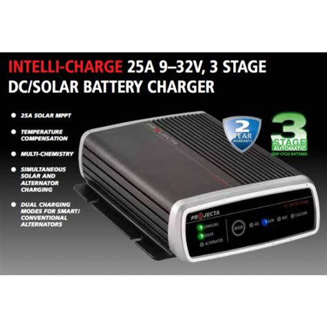 dc dc chargers projecta dc dc charger 25a 9 32v 3 stage dc solar