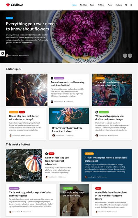 wordpress article layout 25 clean wordpress themes to make modern websites in 2018