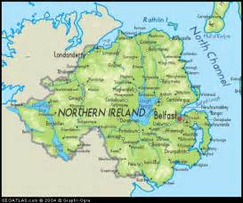 northern map river map northern ireland