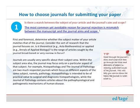 how to write a paper for a journal how to choose journals for submitting your paper