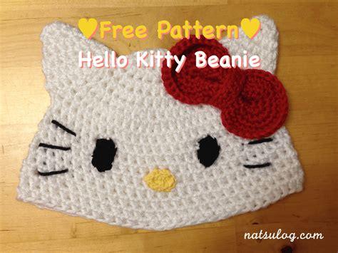 Free Crochet Hat Pattern Hello Kitty