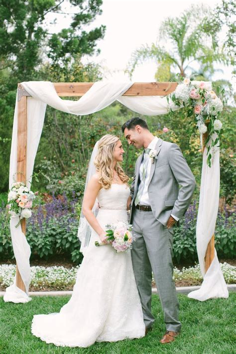 Wedding Arch Simple by Meets Rustic Backyard Wedding Rustic Backyard