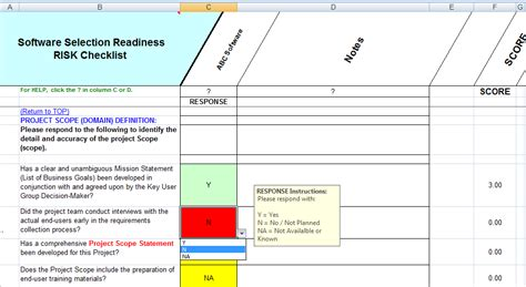 software selection criteria template project scope template template business
