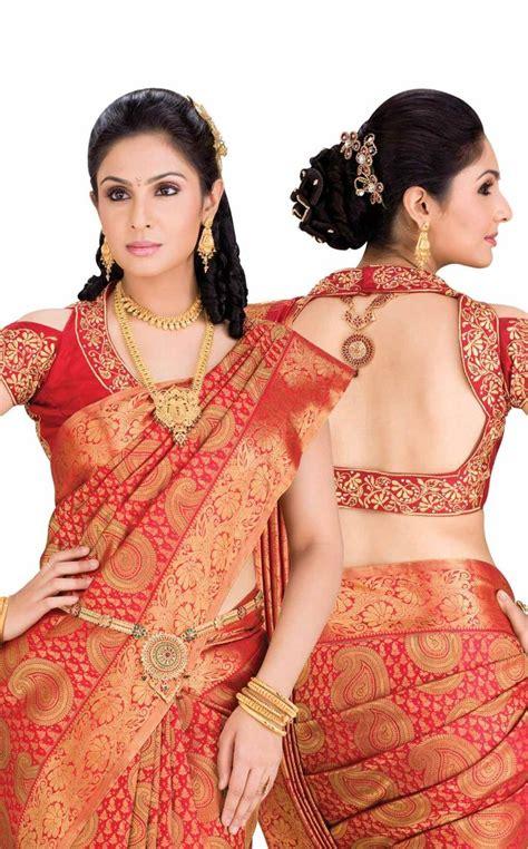 Elegant top best designer blouse designs for pattu sarees