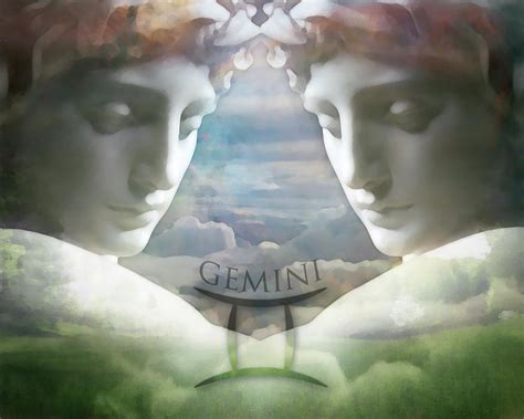 gemini twins digital art by kathleen holley