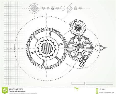 House Plans Blueprints Free ritning av utrymmemekanikern vektor illustrationer bild