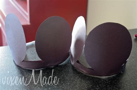 How To Make Mickey Mouse Ears With Construction Paper - craft mickey mouse ears