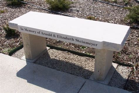 personalized memorial bench engraved stones by stoneworx