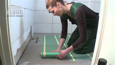 vloerverwarming badkamer quickheat quickheat basic in badkamer youtube