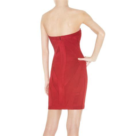 Herve Dress herve leger christelle strapless bandage dress herve