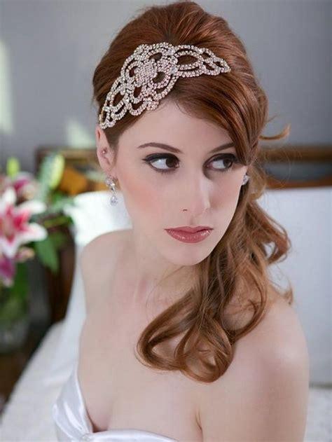 gatsby accessories for curly hair crystal gold headpiece crystal wedding head piece art
