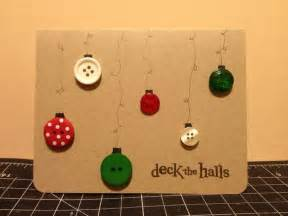 Making Xmas Cards Ideas - simple button homemade deck the halls christmas card my projects pinterest decking hall