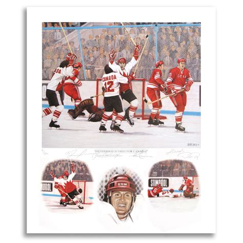 official website for nhl ice effects artist daniel parry paul henderson autographed team canada 72 summit series