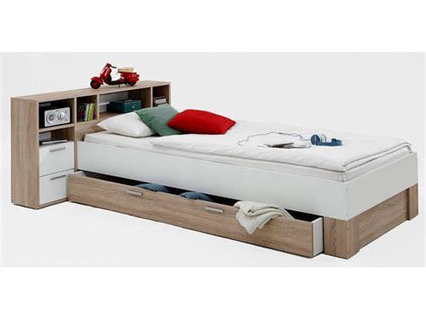 lit 90x200 cm avec t 234 te de lit et tiroir fabio vente de
