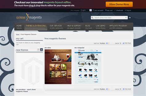 magento enterprise template websites to free magento templates