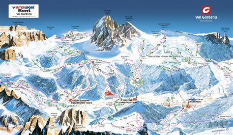 carte sella skikarte skigebiete gr 246 den seiser alm und dolomiti superski