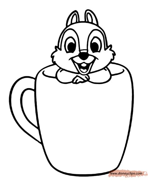 chip and dale printable coloring pages disney coloring book