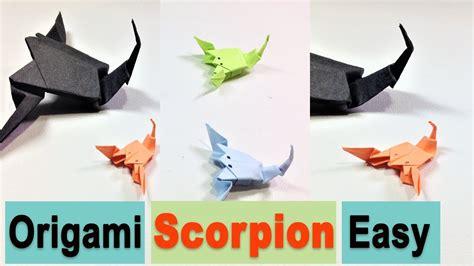 tutorial origami scorpion origami scorpion easy tutorial how to fold paper art
