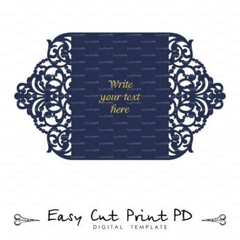 Free Card Templates For Silhouette Cameo by Wedding Invitation Stationery Pattern Card Templates