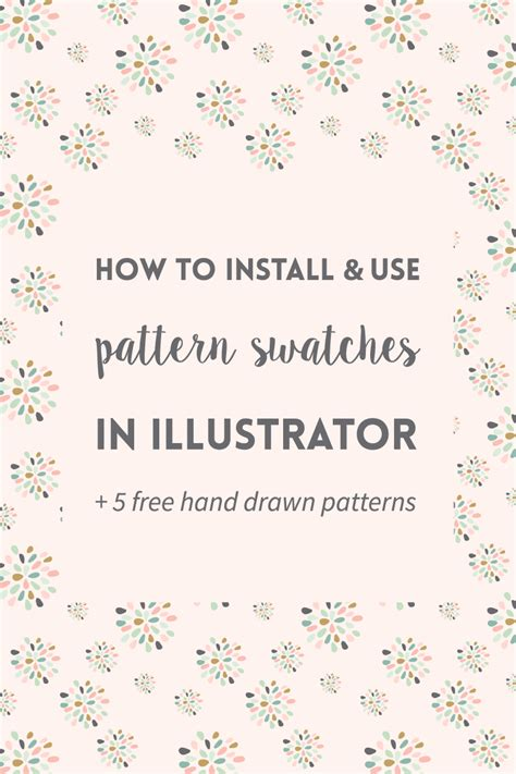 use pattern in ai how to install and use pattern swatches in illustrator