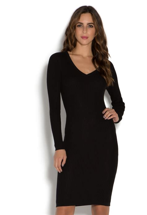 v neck ribbed sweater dress shoedazzle