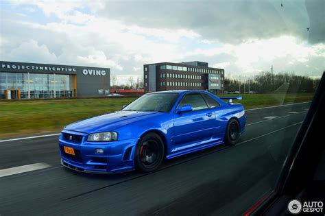 nissan skyline 2015 blue nissan skyline r34 gt r v spec 3 april 2015 autogespot