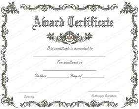 free printable blank award certificate templates 9 printable award certificates blank certificates