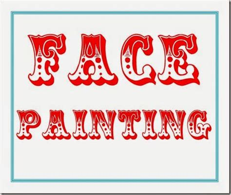carnival sign template 6 best images of printable carnival signs painting
