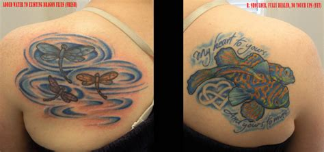 water themed tattoos water themed l and r shoulder tattoos by painlessjames on