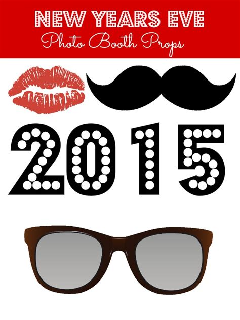 printable photo booth props nye new years eve free printable photo booth props