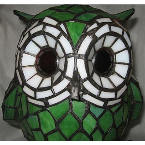 stained glass owl l owl stained glass l green q16 6g owl l from