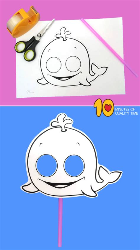 whale paper mask  minutes  quality time
