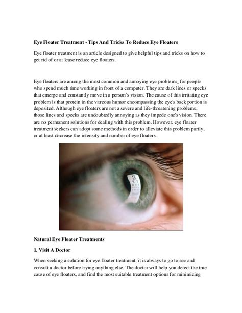 floaters in eye with flashes of light eye floater treatment tips and tricks to reduce eye floaters